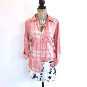 Maurices button down shirt NWOT size 0 Plus rayon